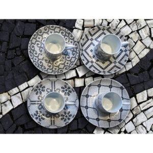 vista alegre calaada portuguesa bruk lizbonski filiżanki do espresso kawy z porcelany