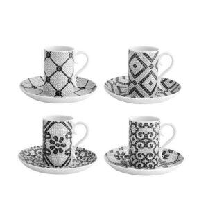 4 filiżanki porcelanowe do espresso Vista Alegre Calacada Portuguesa
